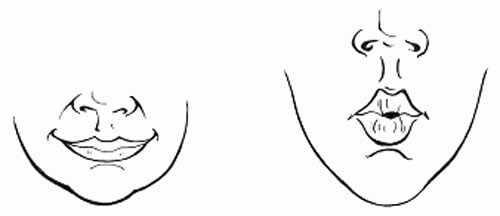 Губки трубочкой улыбка