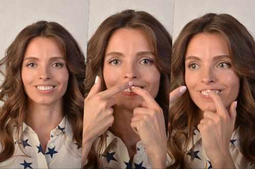 Натягиваем губы на зубы