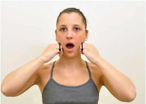 Упражнение для рта и нижней челюсти
