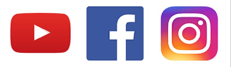 Instagram, YouTube и Facebook