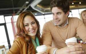 Общение в кафе