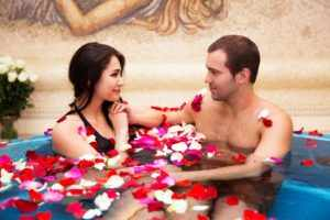 Романтическое свидание в бане